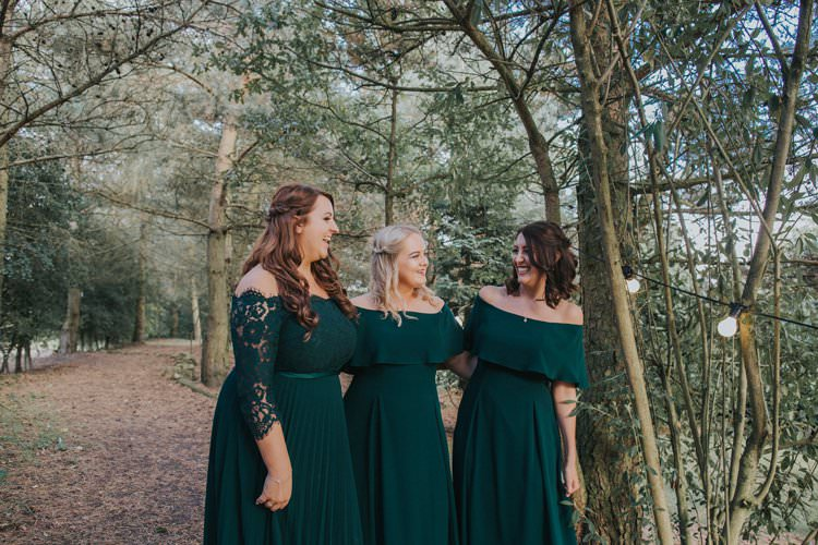 Off Shoulder Bardot Bridesmaid Dress Whimsical Green Copper Rustic DIY Wedding http://www.brookrosephotography.co.uk/
