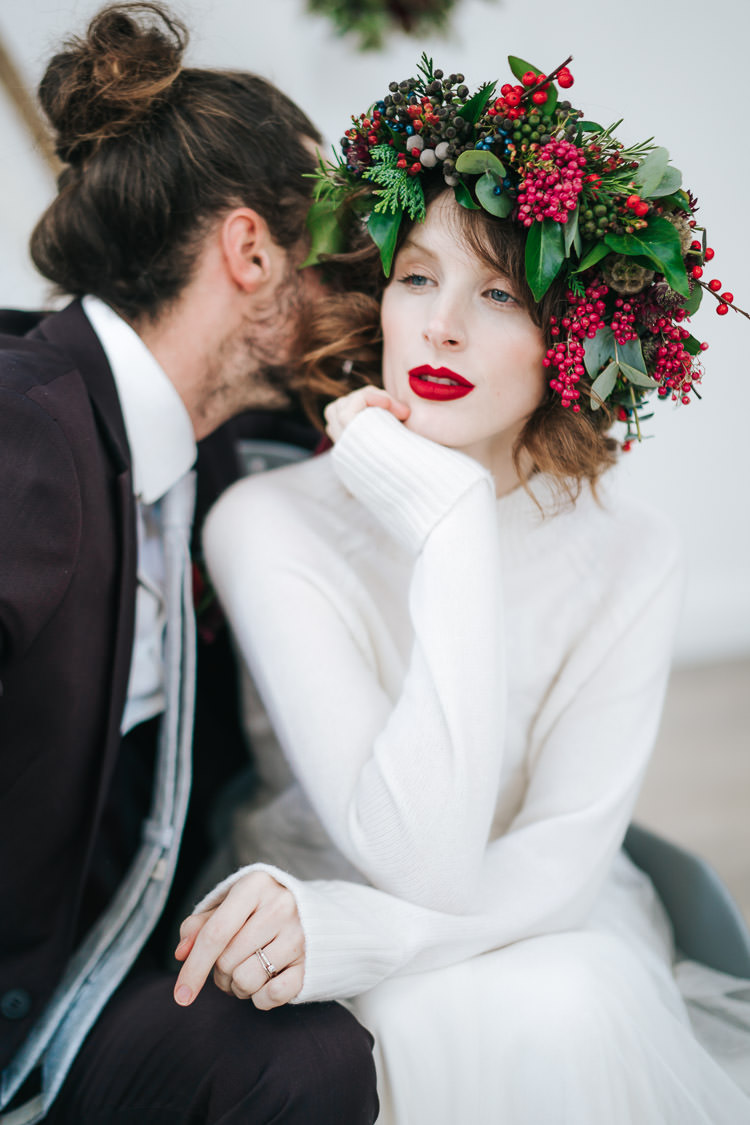 Red Green Winter Wonderland Wedding Ideas http://www.angelawardbrown.com/