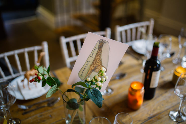 Table Centre Animals Place Setting Playful Metallic Zoo Winter Wedding https://www.jennbrookesphotographer.com/