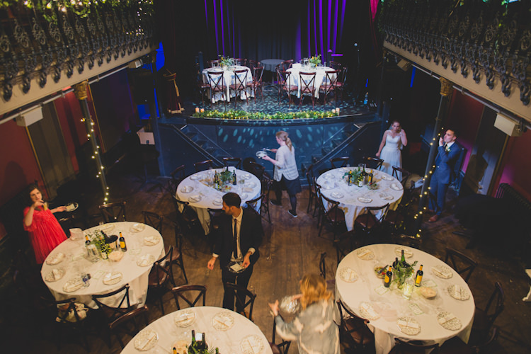 Hoxton Hall London Botanical Gold Sequin Music Hall Wedding http://sashaweddings.co.uk/