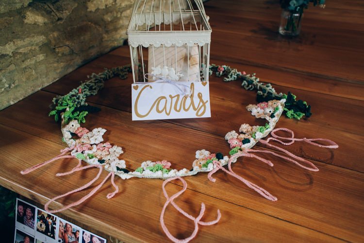 Birdcage Card Holder Flowery Bohemian Secret Garden Wedding https://caseyavenue.co.uk/