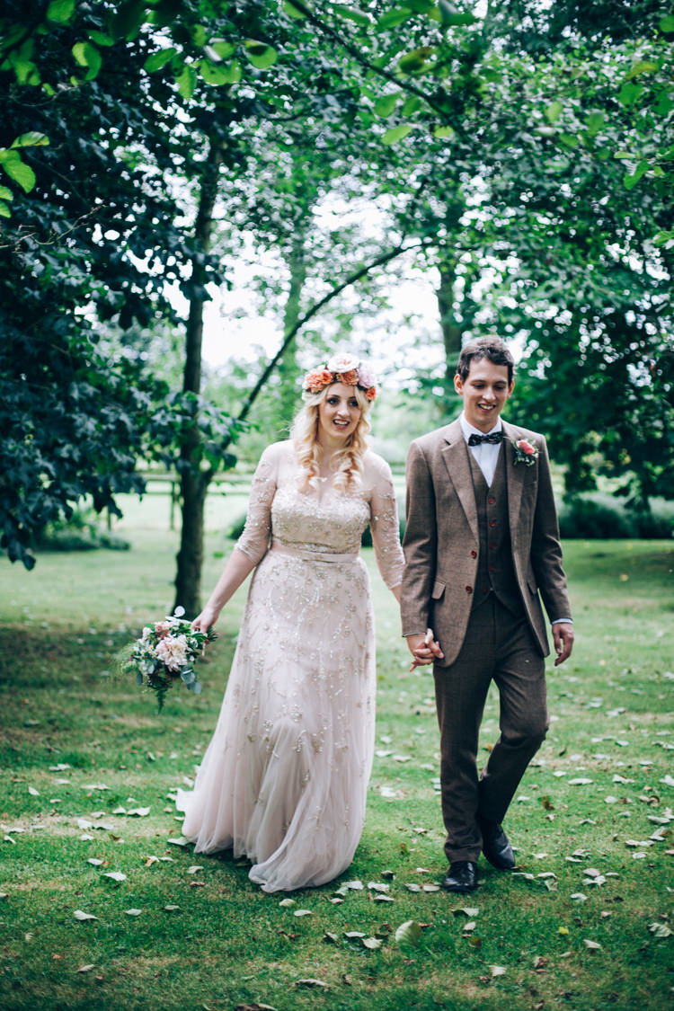 Wendy Makin Sequin Blush Dress Gown Bride Bridal Flowery Bohemian Secret Garden Wedding https://caseyavenue.co.uk/