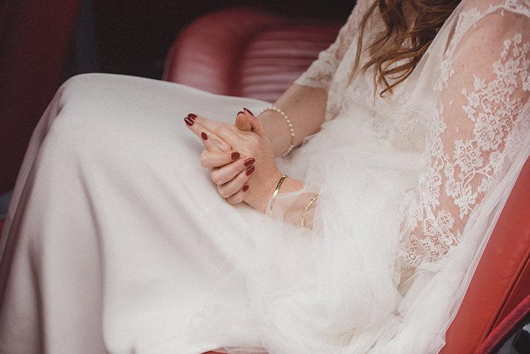 Red Nails Manicure Bride Bridal Joyful Warm Cosy Autumn Barn Wedding http://www.rebeccadouglas.co.uk/