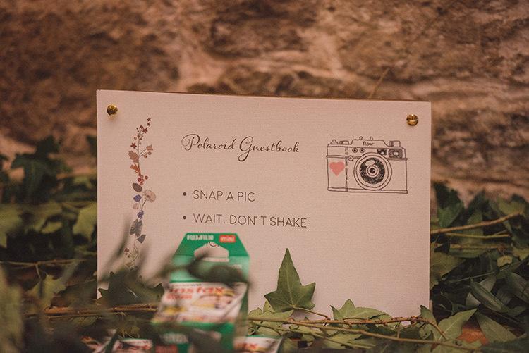 Polariod Guest Book Joyful Warm Cosy Autumn Barn Wedding http://www.rebeccadouglas.co.uk/