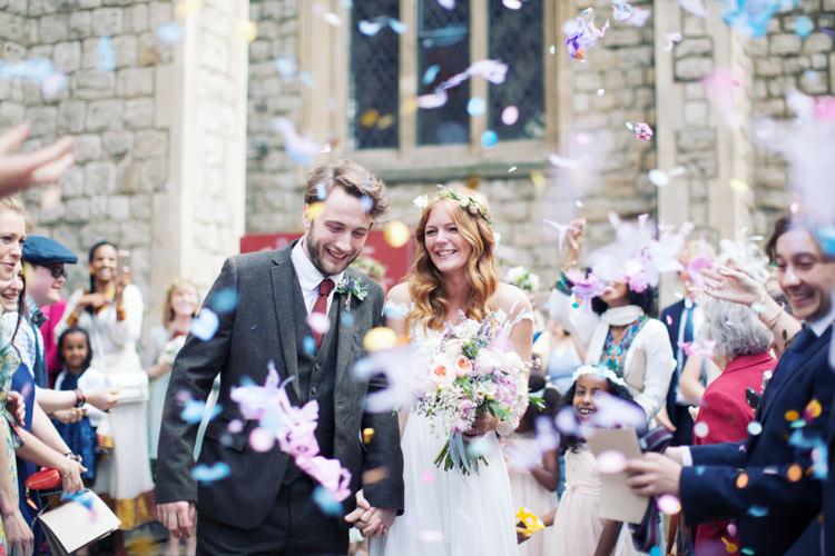 Confetti Throw Relaxed Lavender Farm Marquee Wedding https://sashaleephotography.com/