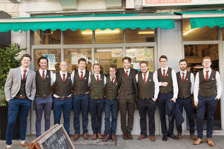 Groom Groomsmen Chinos Waistcoat Tan Shoes Red Tie Relaxed Lavender Farm Marquee Wedding https://sashaleephotography.com/
