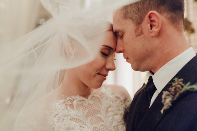 Modern Stylish Chic Bride Groom Veil Photo | Urban Industrial Luxe Wedding http://hellencophotos.com/