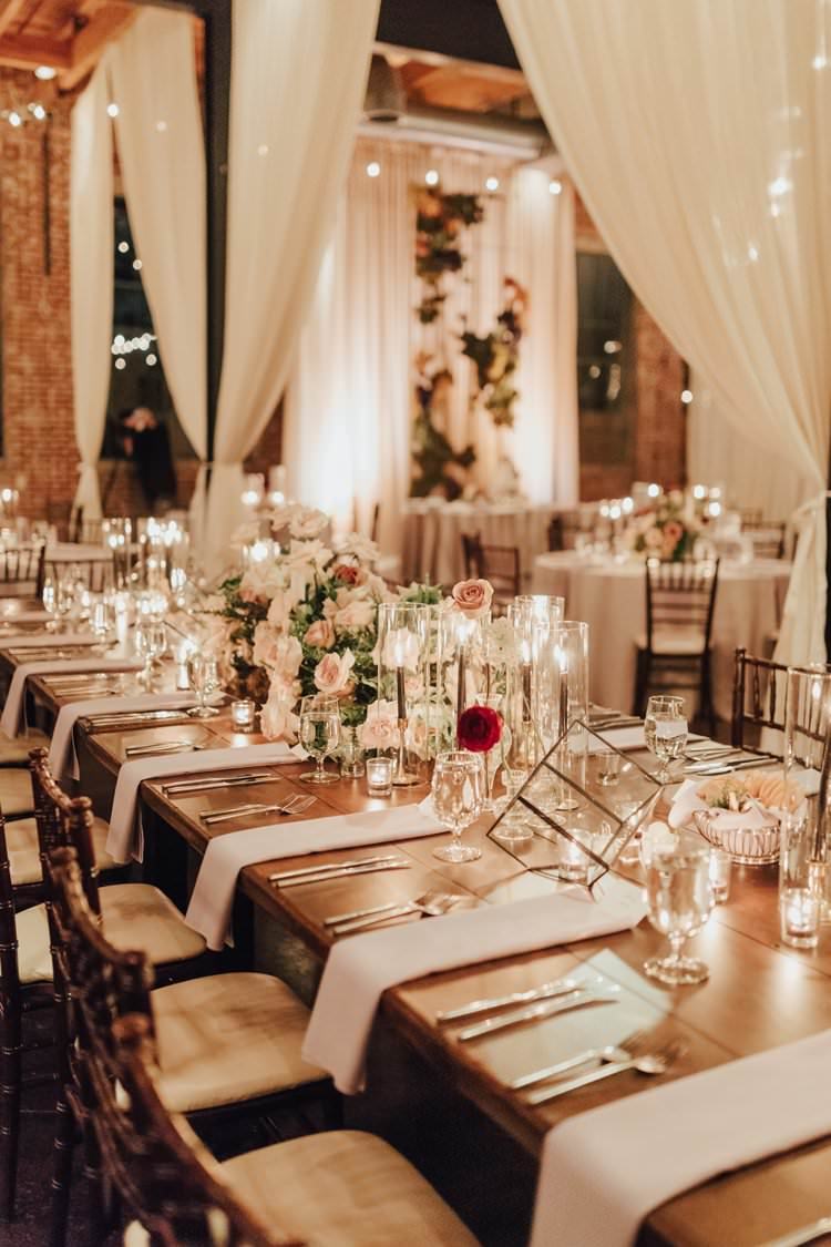 Modern Stylish Minimalist Chic Refined Decor Geometric Candles Table | Urban Industrial Luxe Wedding http://hellencophotos.com/