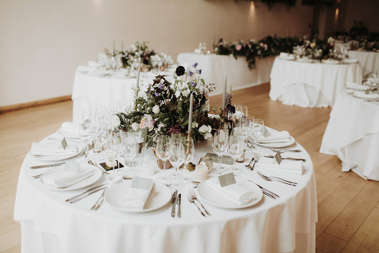 Flowers Centrepieces Decor Candles Table Silvery Grey Nature Wedding https://jonathanellisblog.com/