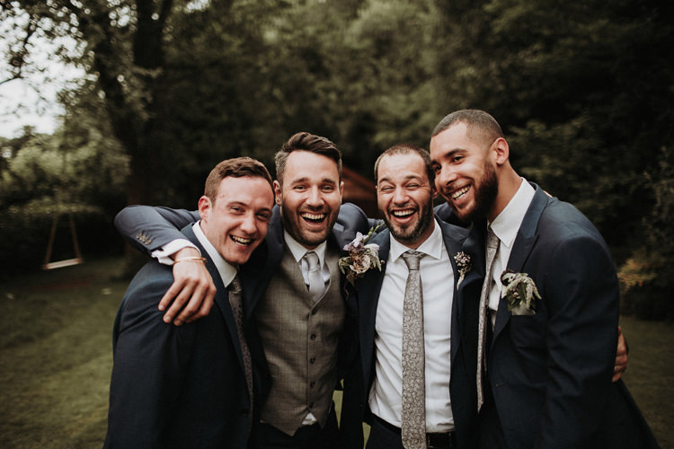 Groom Groomsmen Suits Silvery Grey Nature Wedding https://jonathanellisblog.com/
