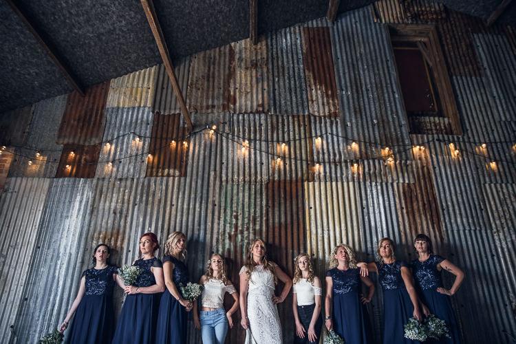 Blue Sequin Bridesmaid Dresses Heartfelt Celestial Handmade Wedding http://assassynation.co.uk/