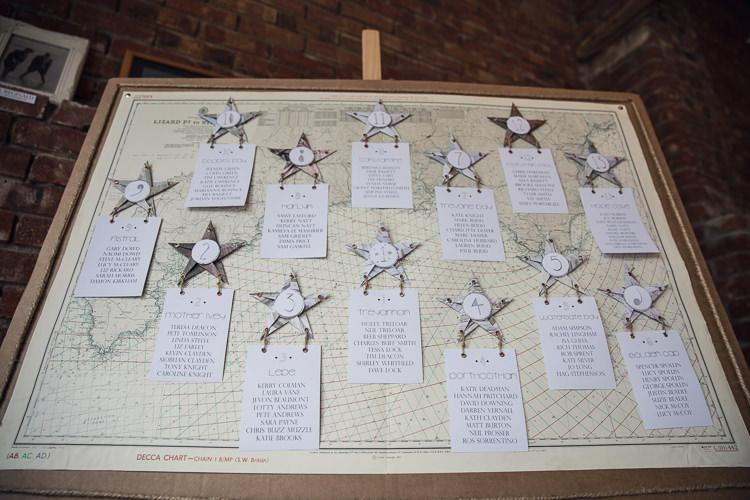 Map Travel Star Seating Plan Table Chart Heartfelt Celestial Handmade Wedding http://assassynation.co.uk/