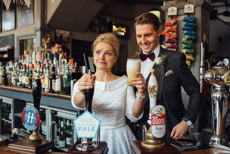 Chic Relaxed London Pub Wedding https://theshannons.photography/