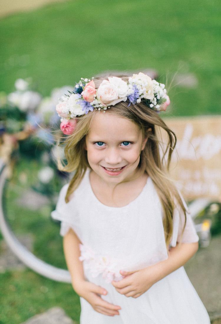 Flower Girl Crown Headdress Retro 70s Bohemian Summer Dream Wedding http://whitecatstudio.ie/