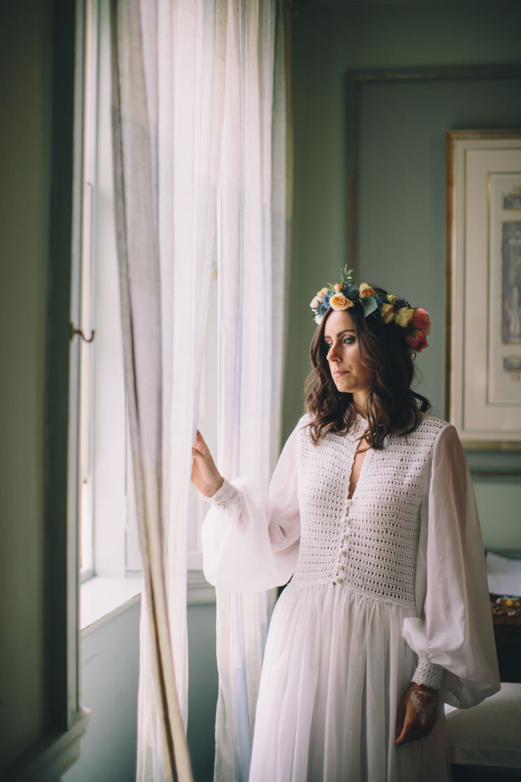 Vintage Dress Sleeves Bride Bridal Retro 70s Bohemian Summer Dream Wedding http://whitecatstudio.ie/