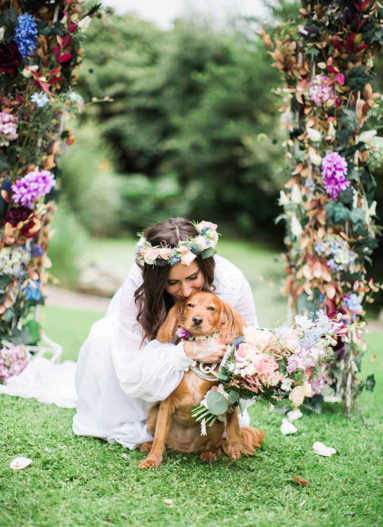 Dog Pet Pooch Retro 70s Bohemian Summer Dream Wedding http://whitecatstudio.ie/