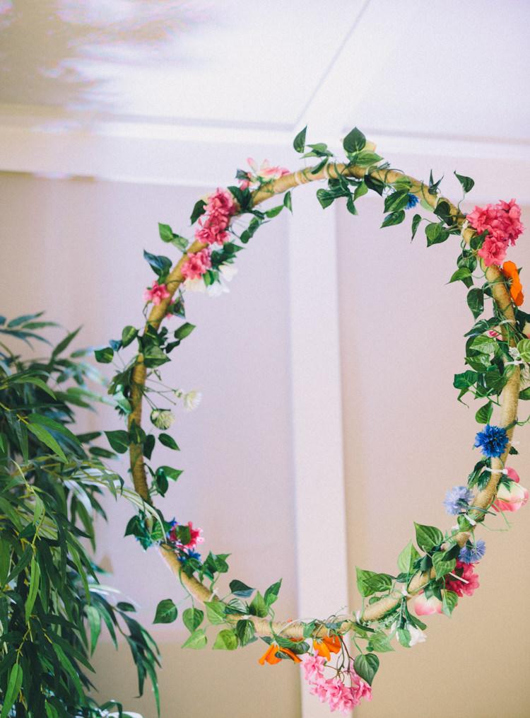 Floral Hanging Hoop Retro 70s Bohemian Summer Dream Wedding http://whitecatstudio.ie/