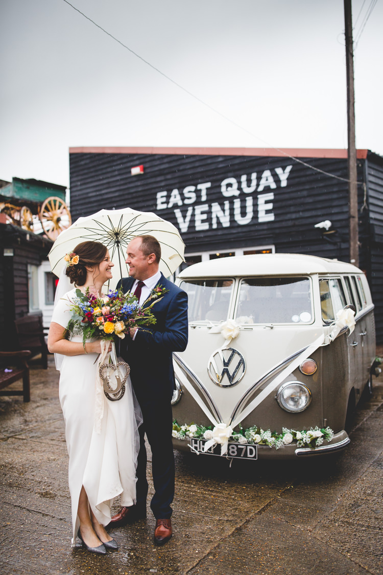 Colourful Fun Cosy Rainy Sea Wedding http://www.livvy-hukins.co.uk/