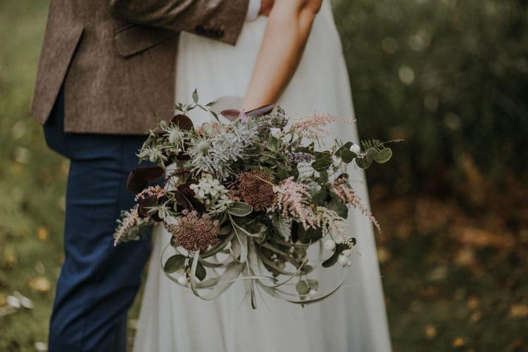 Bouquet Flowers Bride Bridal Air Plant Astilbe Bohemian Cool Raw Crystal Wedding Ideas https://lolarosephotography.com/
