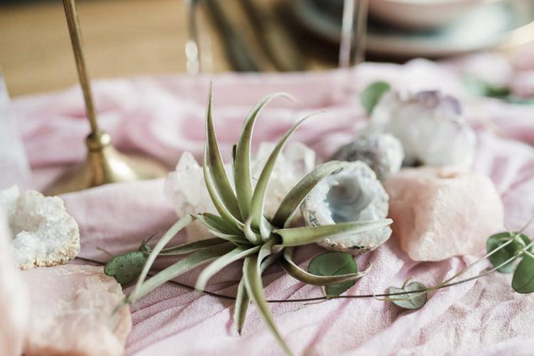 Bohemian Cool Raw Crystal Wedding Ideas https://www.hannahmcclunephotography.com/