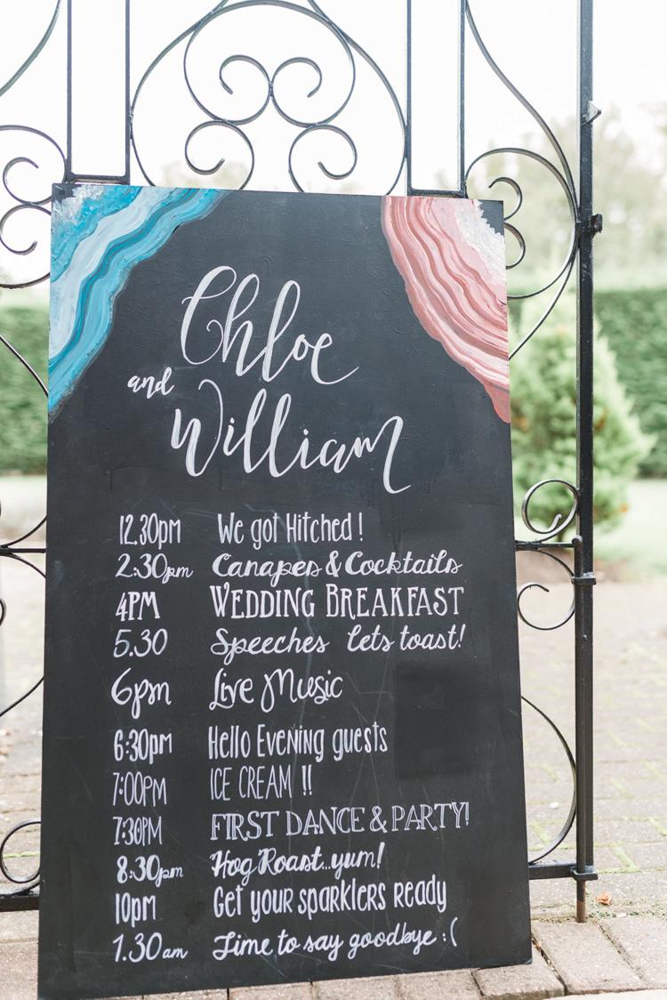 Chalk Board Sign Bohemian Cool Raw Crystal Wedding Ideas https://www.hannahmcclunephotography.com/