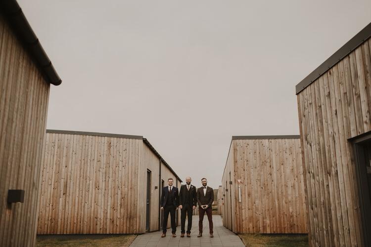 Groom Groomsmen Simple Tweed Suits Nordic Scandinavian Style | Intimate Adventurous Emotional Iceland Wedding http://www.thecurries.co/