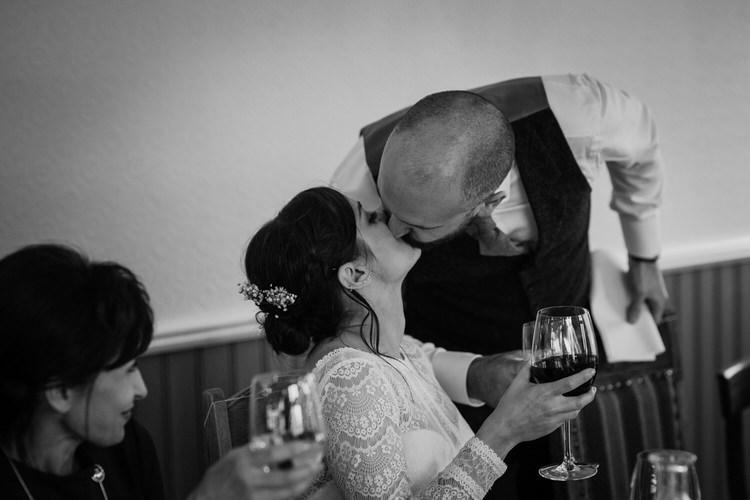Bride Groom Destination Elopement Neutral Elegant Simple Minimalist Decor Restaurant Reception Speeches | Intimate Adventurous Emotional Iceland Wedding http://www.thecurries.co/