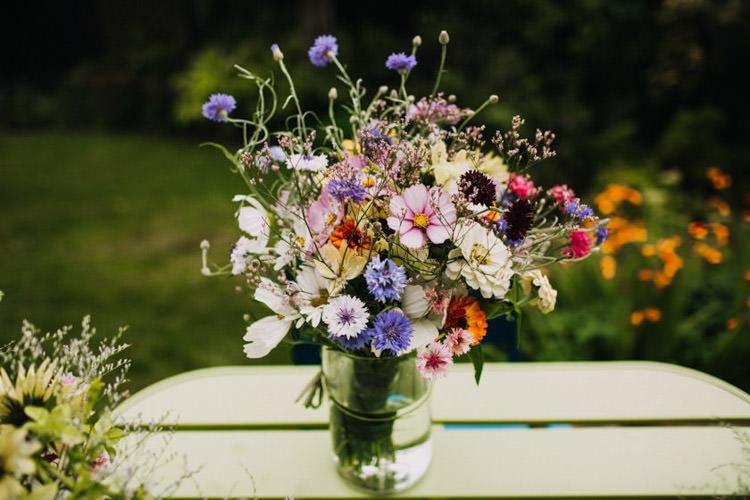 Wildflower Bouquet Flowers Bride Bridal Joyful Homespun Humanist Farm Camping Wedding https://aniaames.co.uk/
