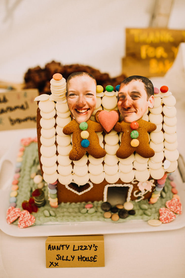 Gingerbread House Cake Joyful Homespun Humanist Farm Camping Wedding https://aniaames.co.uk/