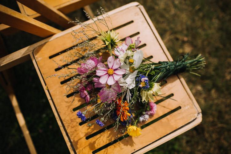 Wildflower Bouquet Joyful Homespun Humanist Farm Camping Wedding https://aniaames.co.uk/