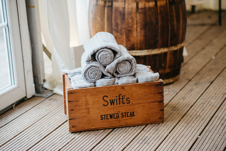 Rustic Detail Fruit Crate Blankets Folky Woodland Adventure Wedding https://elainewilliamsphoto.com/