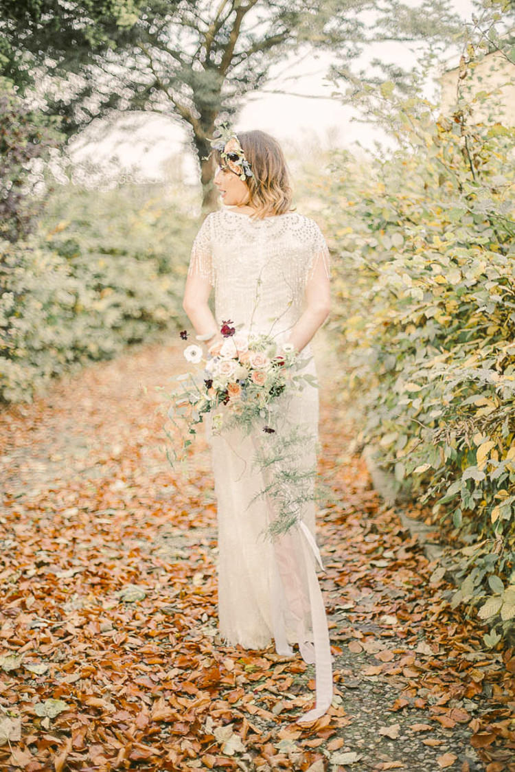 Bride Bridal Gown Beaded Tassel Beautiful Fine Art Country House Wedding Ideas https://www.theblushingpeony.co.uk/