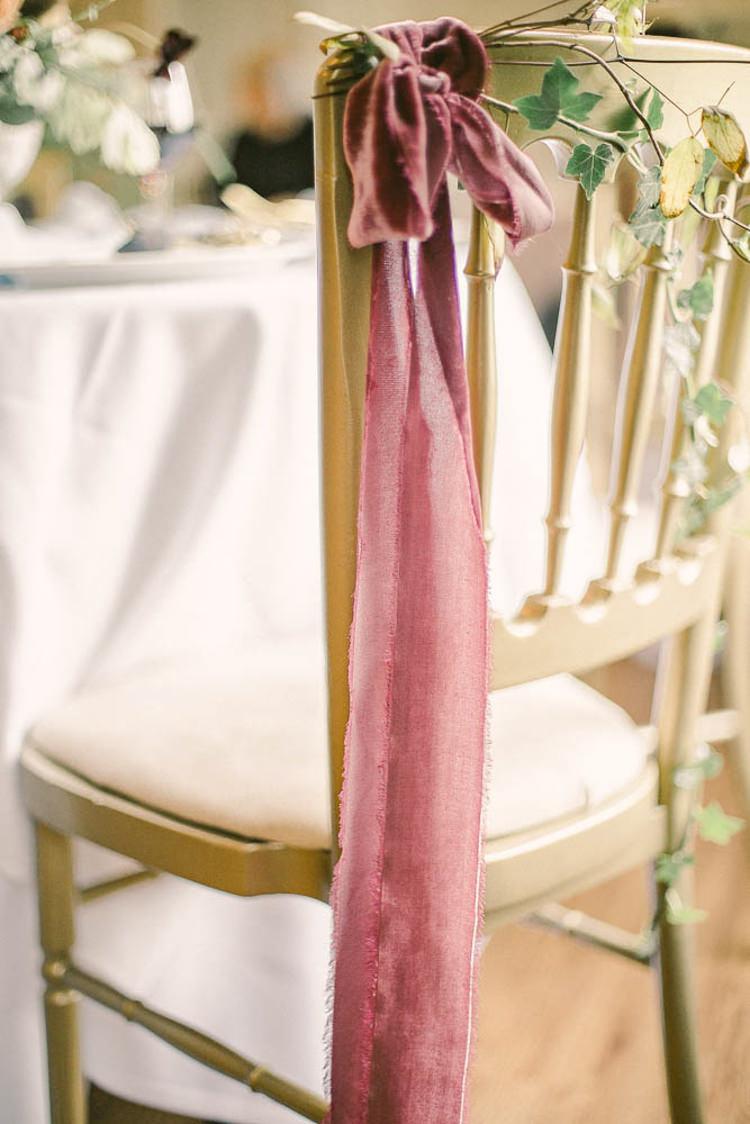 Red Velvet Ribbon Chair Beautiful Fine Art Country House Wedding Ideas https://www.theblushingpeony.co.uk/