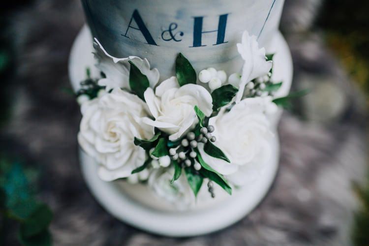 Marble Cake Geometric Initials Letters Ocean Clifftop Elopement Wedding Ideas North Wales https://www.claracooperphotography.com/