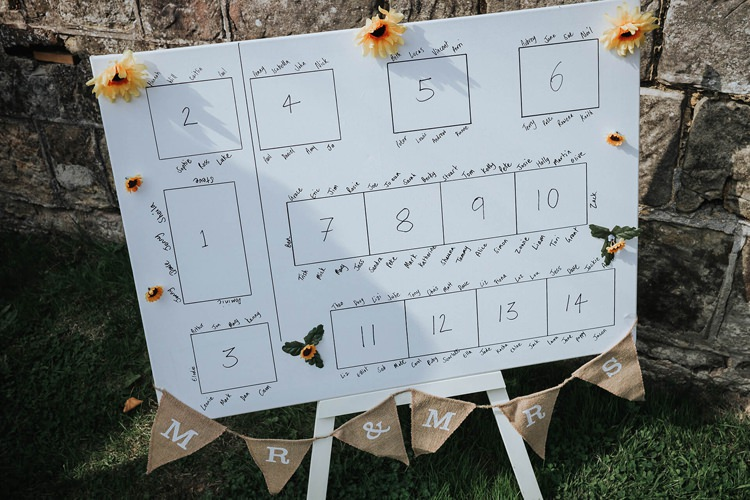 Seating Plan Table Chart Rustic Homespun Country Chapel Barn Wedding Sussex http://www.olegssamsonovsphotography.com/