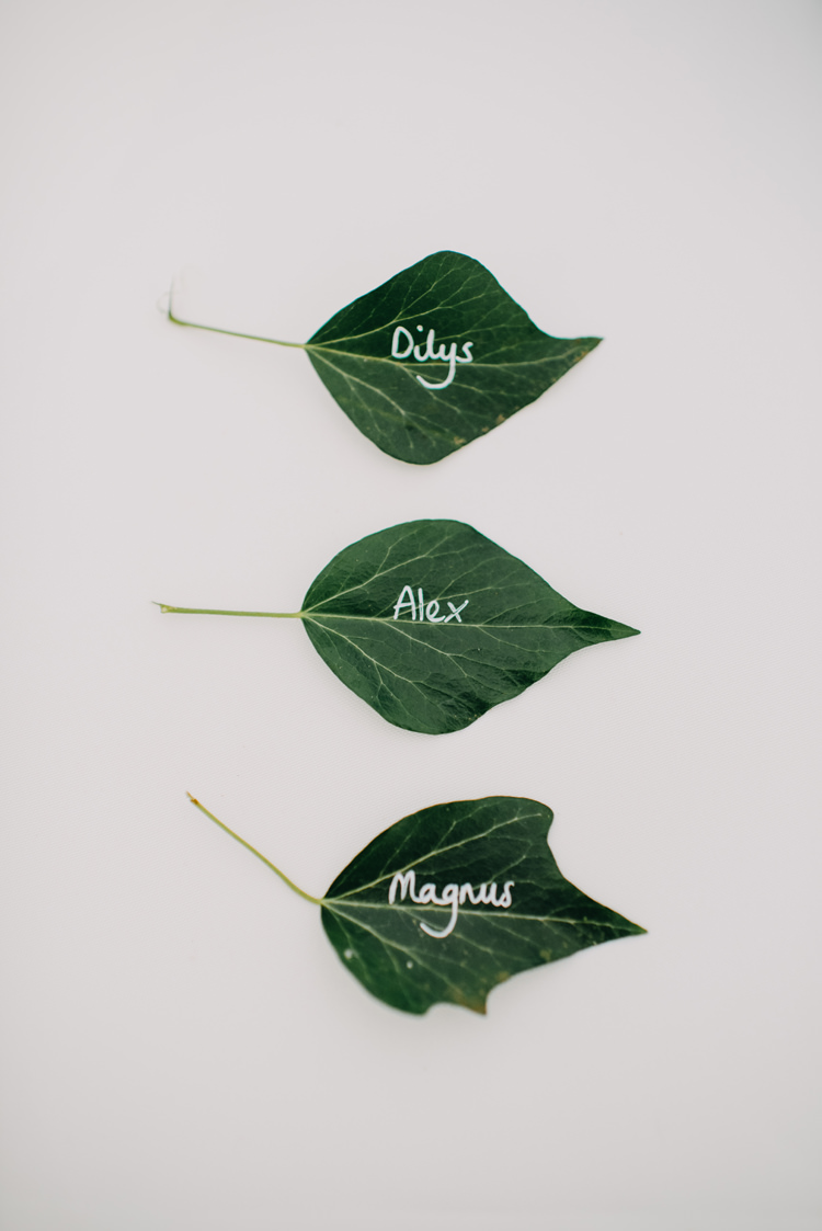 Place Card Name Leaf Magical Woodland Family Wedding http://photographybyclare.co.uk/