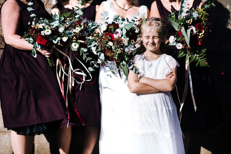 Autumn Packington Moor Wedding Staffordshire Farm Barn Burgundy http://kathrynedwardsphotography.com/