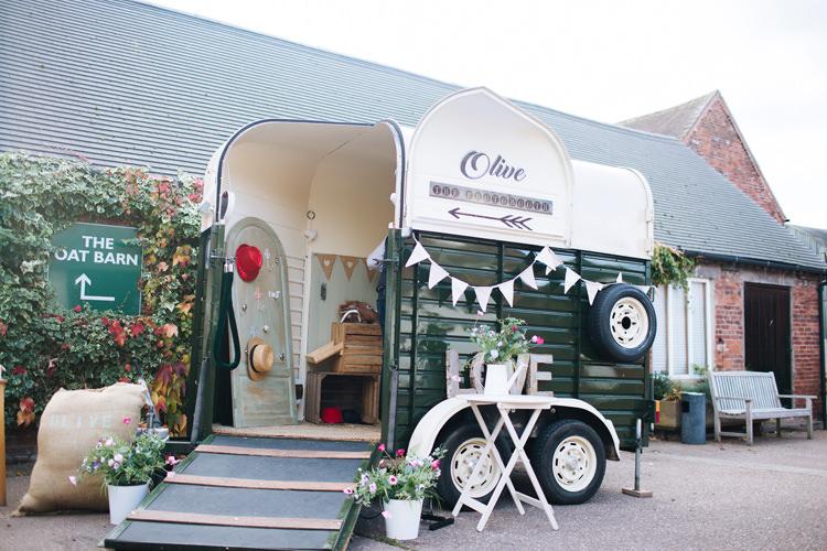 Photo Booth Van Autumn Packington Moor Wedding Staffordshire Farm Barn Burgundy http://kathrynedwardsphotography.com/