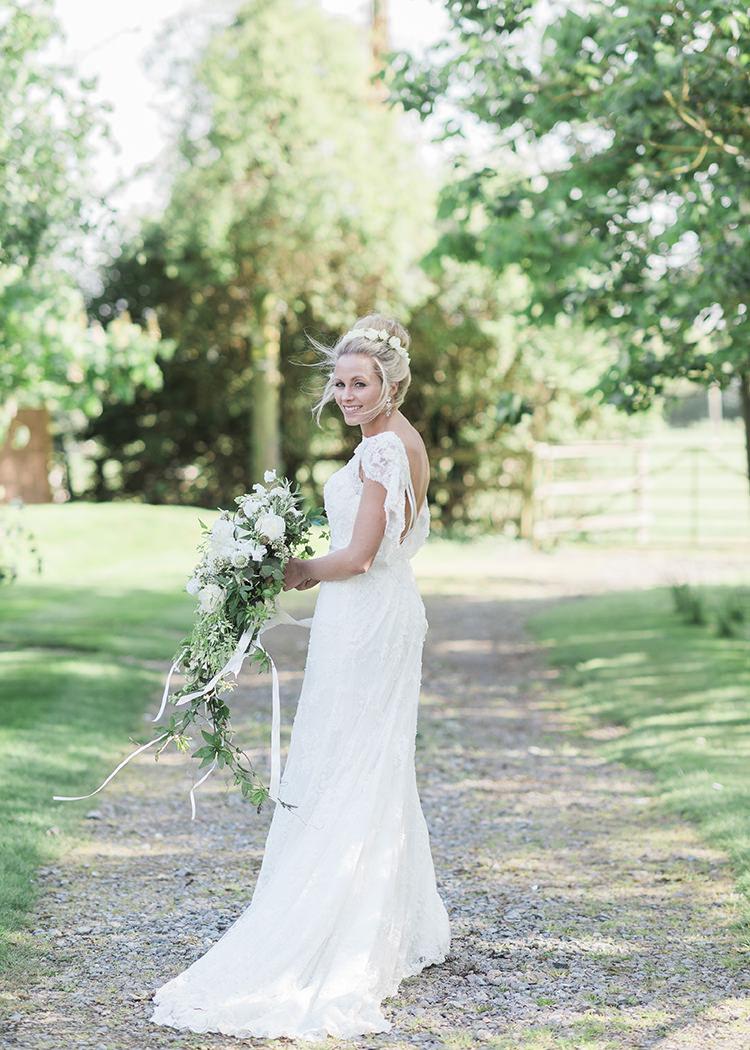 Annasul Y Lace Dress Gown Bride Bridal Sleeves Darling Fresh Bohemian Barn Wedding https://razia.photography/