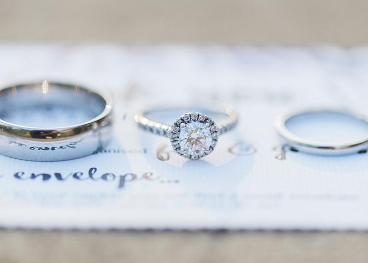 Engagement Ring Halo Diamond Bands Darling Fresh Bohemian Barn Wedding https://razia.photography/
