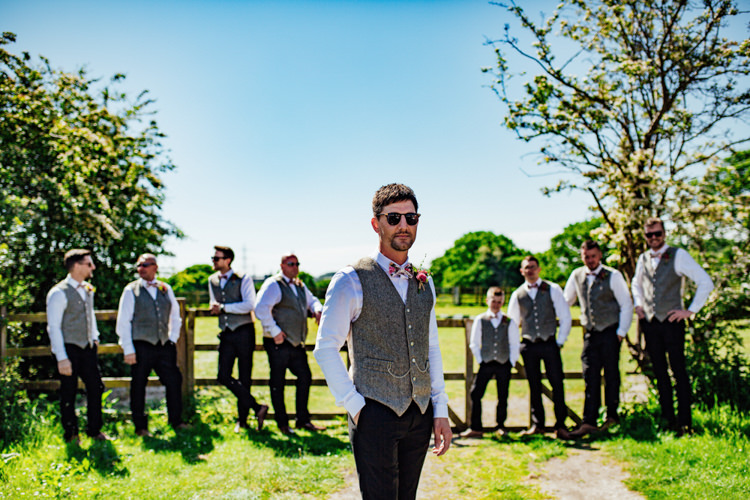Groom Groomsmen Casual Tweed Waistcoat Bow Tie Boho DIY Secret Garden Wedding https://bibandtuckerphotography.co.uk/