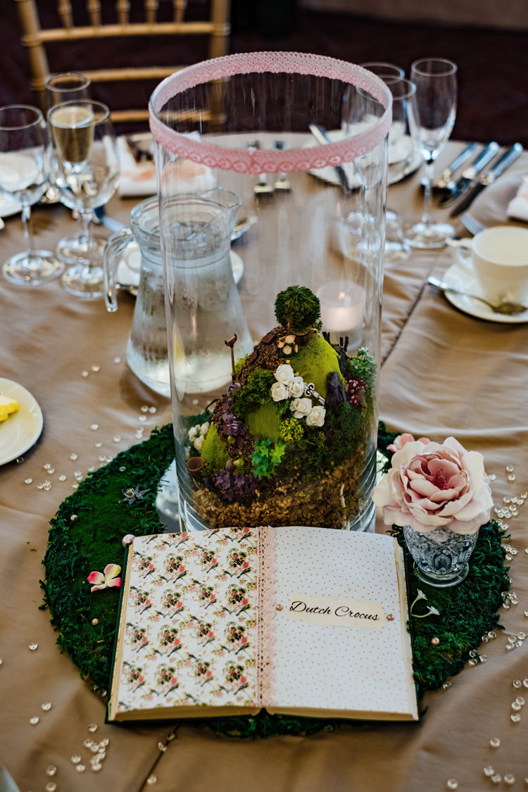 Micro Garden Table Centre Details Miniature Boho DIY Secret Garden Wedding https://bibandtuckerphotography.co.uk/