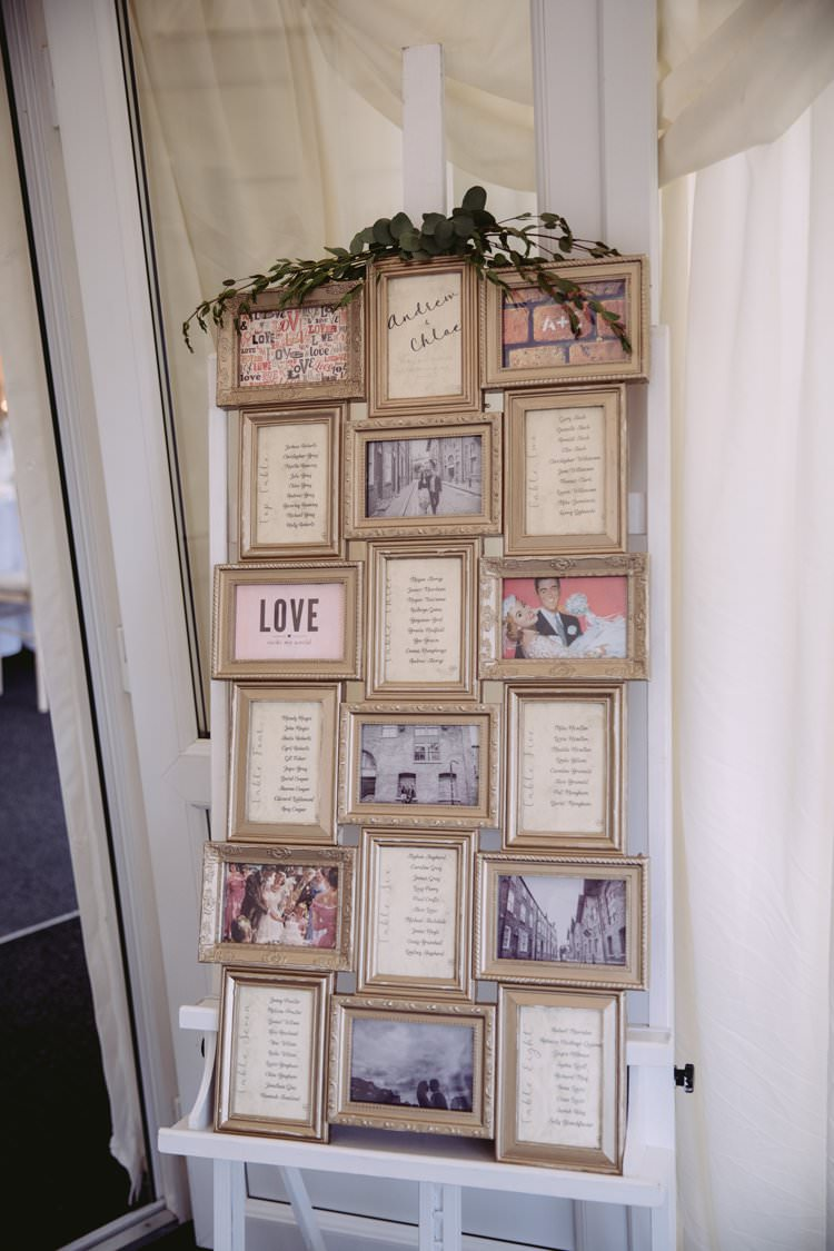 Table Plan Frames Easel Greenery Eucalyptus Seating Chart Beautiful Romantic Country House Wedding Middleton Lodge North Yorkshire http://hayleybaxterphotography.com/