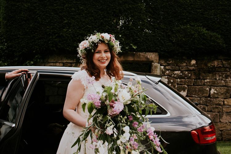 Bride Bridal Bouquet Flower Crown White Pink Green Tropical DIY Moon Photo Booth Wedding https://photo.shuttergoclick.com/