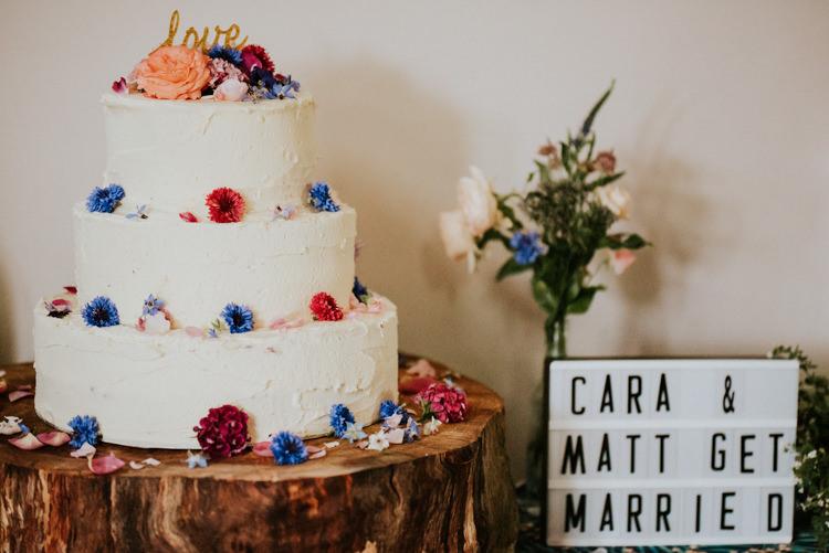 Buttercream Cake Flowers Log Stand Tropical DIY Moon Photo Booth Wedding https://photo.shuttergoclick.com/