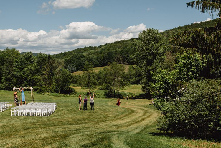 Outdoor Field Forest Wild Nature Floral Arch Marquee Tipi Ceremony | Breathtaking Secluded Back Garden Open Sided Tent Wedding Vermont https://kickasscouples.com/