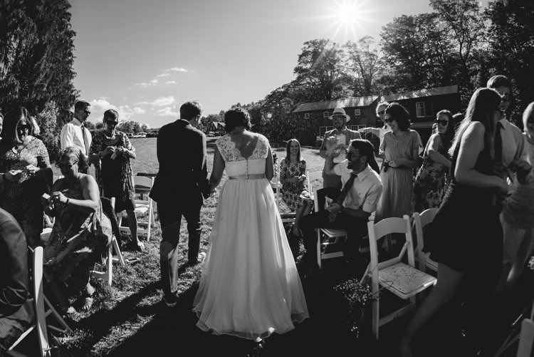 Outdoor Field Forest Wild Nature Marquee Tipi Bride Groom Ceremony Aisle | Breathtaking Secluded Back Garden Open Sided Tent Wedding Vermont https://kickasscouples.com/