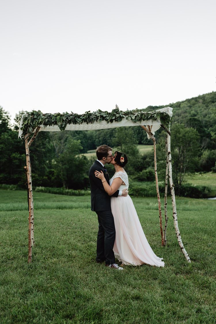 Breathtaking Secluded Back Garden Open Sided Tent Wedding Vermont https://kickasscouples.com/