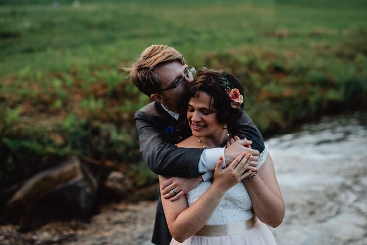 Outdoor Field Forest Wild Nature River Marquee Tipi Bride Groom | Breathtaking Secluded Back Garden Open Sided Tent Wedding Vermont https://kickasscouples.com/