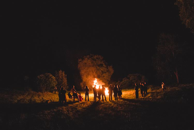 Outdoor Field Forest Wild Nature Marquee Tipi Night Bonfire | Breathtaking Secluded Back Garden Open Sided Tent Wedding Vermont https://kickasscouples.com/